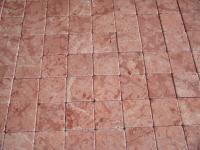 Foto tappeto in gres realizzato a mano con piastrelle di